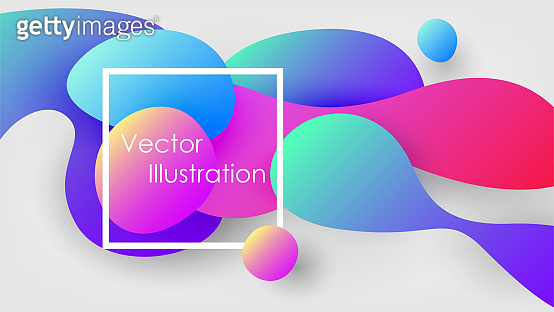 Bright background with colorful bubbles