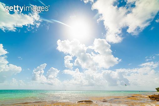 Clouds over Pointe de la Saline beach in Guadeloupe
