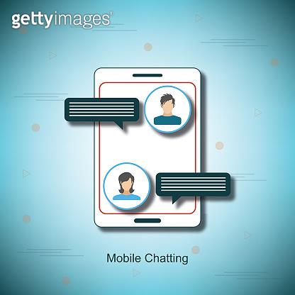 Mobile Chatting - Illustration