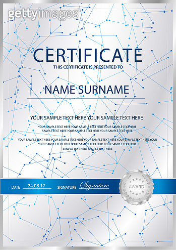 Certificate vertical vector template background.