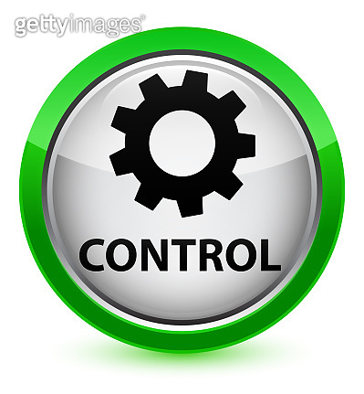 Control (settings icon) crystal green round button