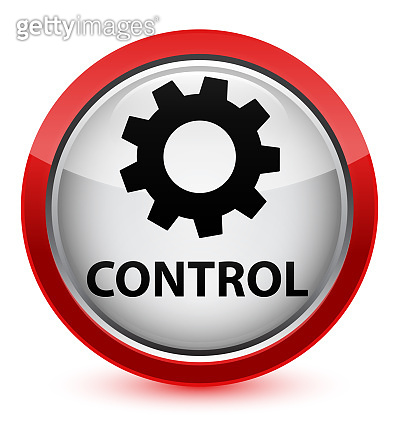 Control (settings icon) crystal red round button