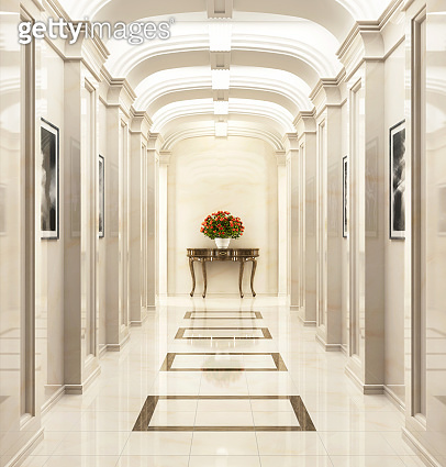 Large hallway in a classic style