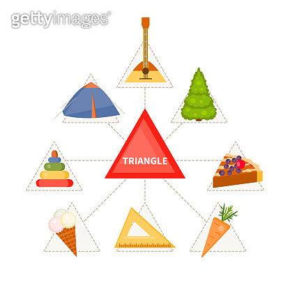 Triangular objects for children