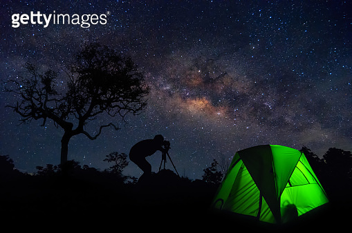 Milky way and camping.