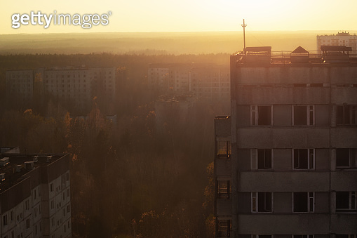 Abandoned Cityscape in Pripyat, Chernobyl Exclusion Zone 2019