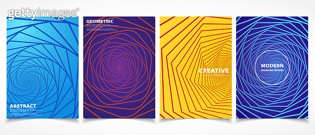 Abstract modern geometric shape colorful minimal covers pattern design. vector eps10