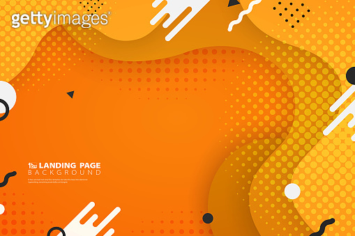 Abstract colorful landing page web shape decoration background. illustration vector eps10