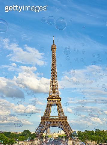 Paris - Eiffel Tower with Soap Bubbles