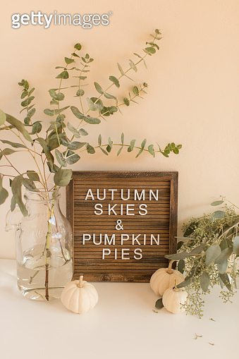 Autumn Skies & Pumpkin Pies Sign