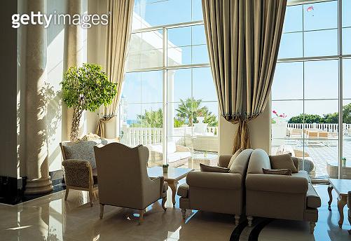 Luxury five stars hotel's lobby waiting area