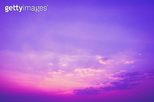 Bright vibrant Purple colors real romantic sunset sky ,nature beauty color background