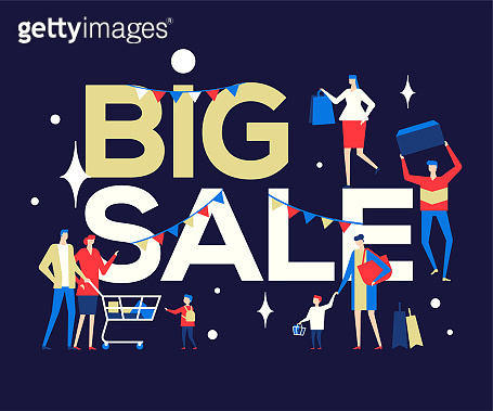 Big Sale - flat design style colorful illustration