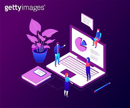 Data analysis - modern colorful isometric vector illustration