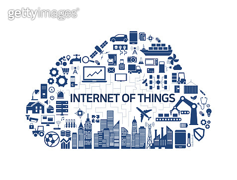 Internet of Things, Industry 4.0, cloud, icon, IOT