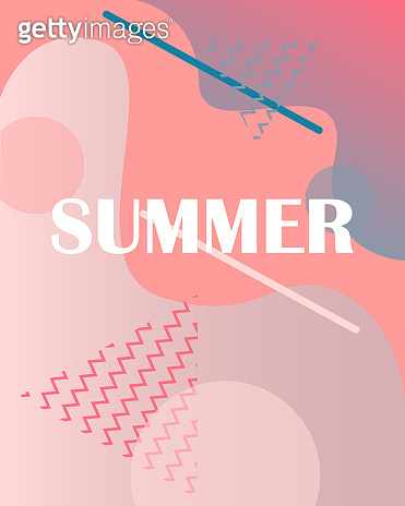Abstract, modern dynamic background for your design. Gradient shapes. Summer poster.