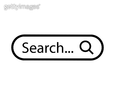 Search bar web page internet browser element design, search box template isolated – for stock