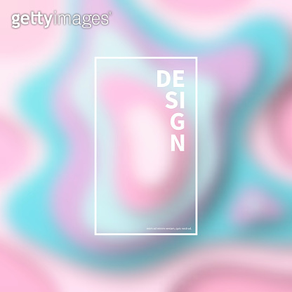 Pastel colors wave shapes blurred - Abstract trendy background