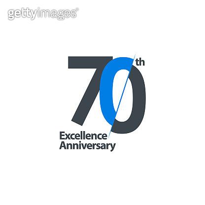 70 Year Anniversary Celebration Vector Template Design Illustration