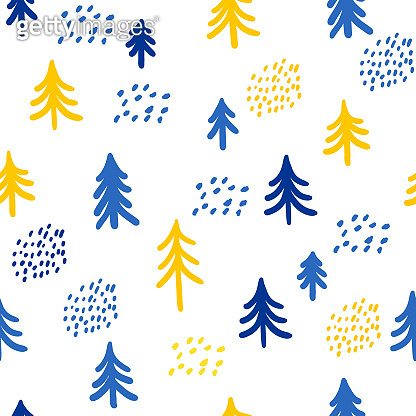 Childish wallpaper seamless pattern background. Abstract  swatch for design kids badroom wall, nappy, birthday card, textile etc.