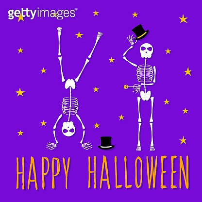 Abstract happy halloween pattern background. Modern childish halloween art for design card, halloween party invitation, menu, autumn holiday shop sale, bag print, t shirt etc.