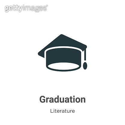 Graduation vector icon on white background. Flat vector graduation icon symbol sign from modern literature collection for mobile concept and web apps design.