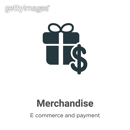 Merchandise vector icon on white background. Flat vector merchandise icon symbol sign from modern e commerce and payment collection for mobile concept and web apps design.