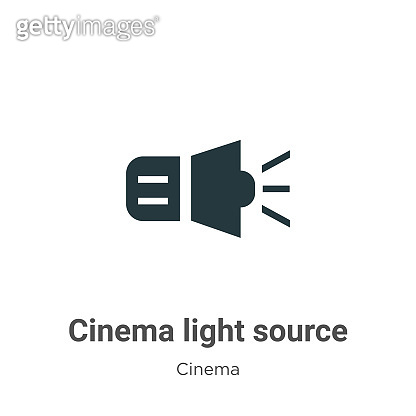 Cinema light source vector icon on white background. Flat vector cinema light source icon symbol sign from modern cinema collection for mobile concept and web apps design.