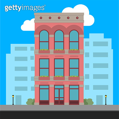Buildings icon and office icon - Illustration