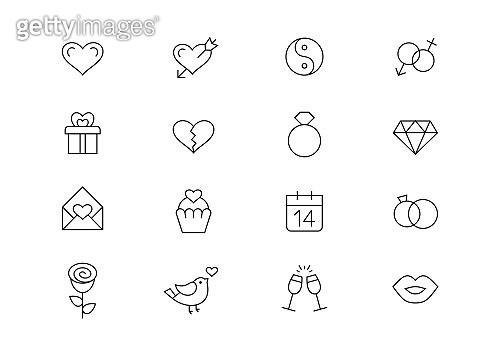 Love editable stroke icons