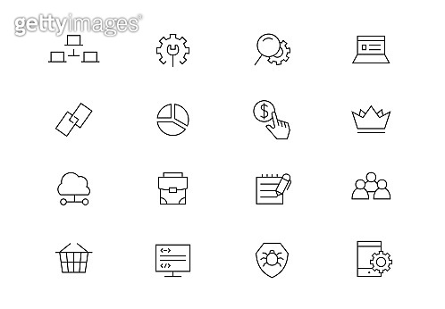 SEO editable stroke icons