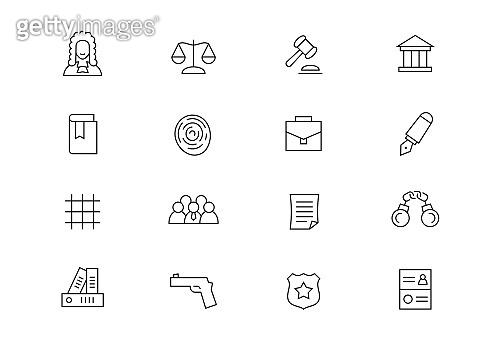 Law editable stroke icons