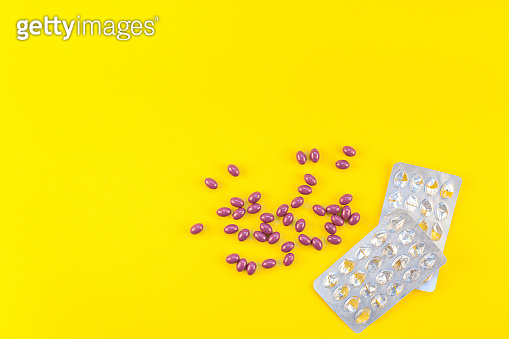Nutritional supplement purple pills with blister