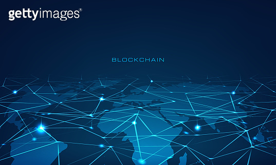Blockchain technology concept block chain database data cryptocurrency business security mining background
