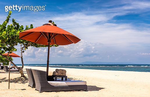 Paradise balinese sandy beach