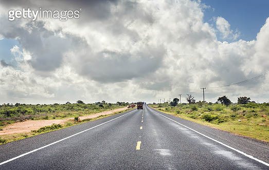 African highway in Kenya