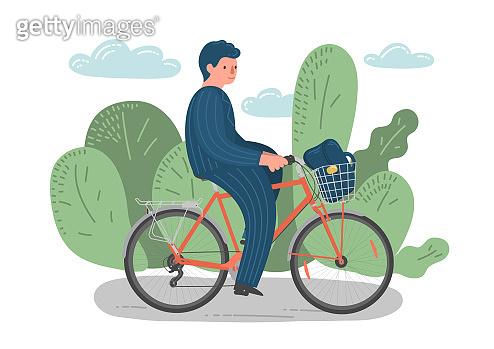 Cycling man.