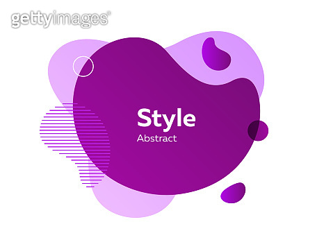 Abstract modern violet graphic element with left stripes