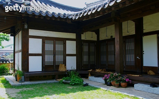 a Korean traditional house