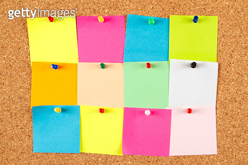 Empty Adhesive Notes for New Year Resolutions
