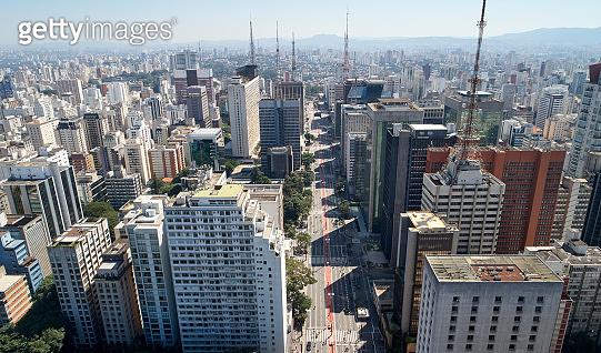 Avenida Paulista (Paulista Avenue), Sao Paulo City, Brazil.