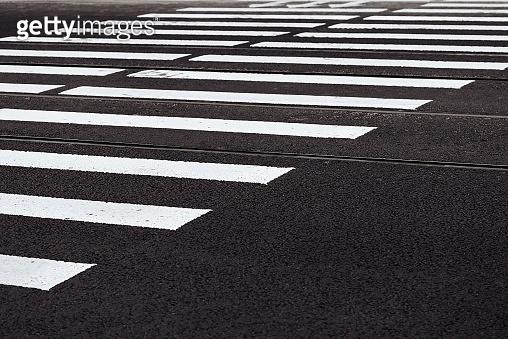 road marking of the crosswalk