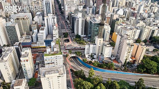 Paulista Avenue in Sao Paulo City.