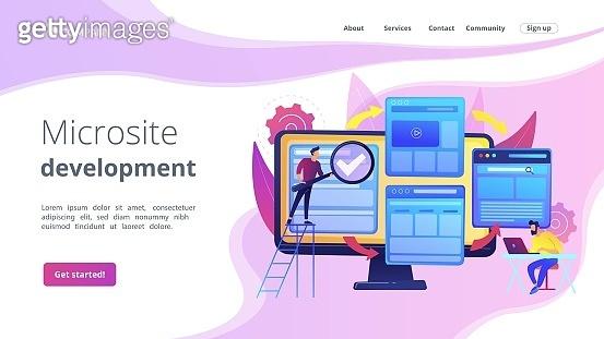 Microsite development concept landing page