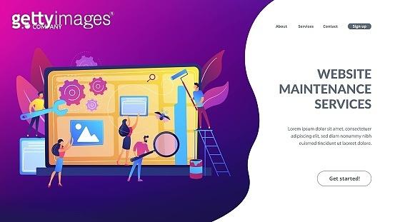 Website maintenance concept landing page