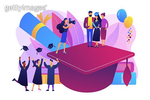 Graduation concept vector illustration