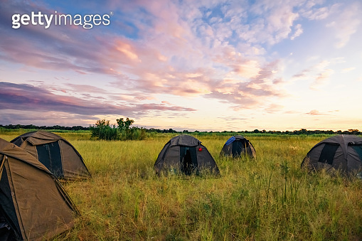 bush camping in the african nature