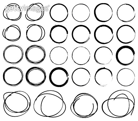 Hand Drawn Scribble Circles