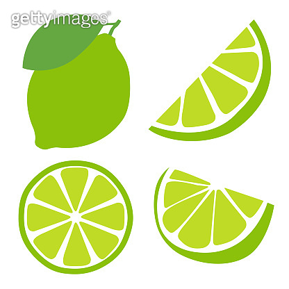 Icon set lime, vector illustration