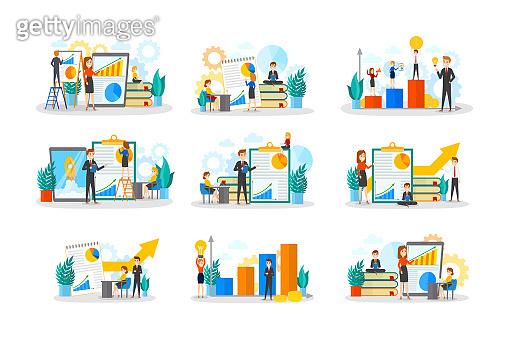 Business teamwork set